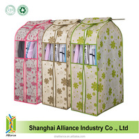 Floral Design Non Woven Fabric Suit Garment Bag with PVC Transparency Window