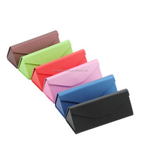 Hot Sell CMYK Printing PU Metal Spectacle Case, Leather Eyewear Display Box, Hard Eyeglass Cases