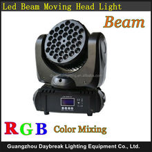 36 x 3w RGB Moving head light Cree Led Beam Excellent light for DJ Disco Bar Night club Band theater wedding