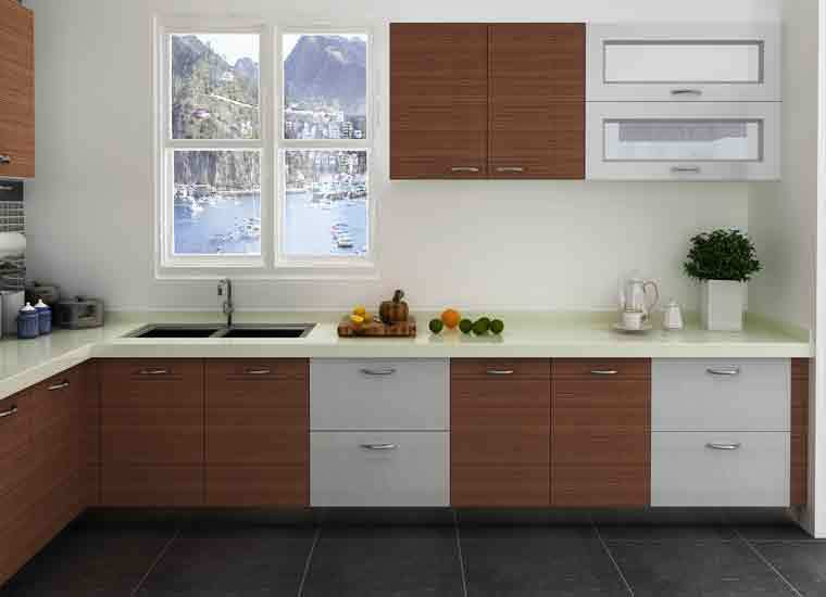 Modular Kenya Project Simple L-shaped Small Kitchen Designs - Buy ...