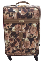 eminent leisure single colour classical cloth trolley luggage