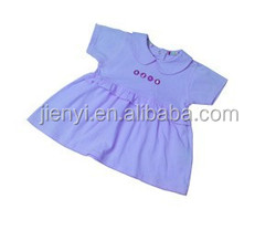 Summer 100%cotton pink baby dress