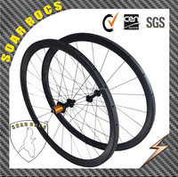 2015 SoarRocs super light wheel UD matte basalt braking surface Ultra light hub Bitex hub black 38mm tubular carbon wheelset
