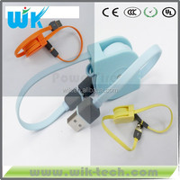wik factory 2015 new china wholesale logo custom retractable usb cable