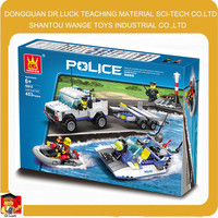 Wange toy Coast Guard brick police set toy