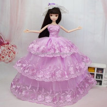girl toy barbie doll lovely change clothes games embroidered clothes organza fabric