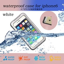 For iPhone Compatible Brand and PC + Silicone Material universal waterproof case for iphone 6 and plus