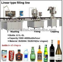 Economy Linear Type beverage/ Water / Vinegar Bottling Line