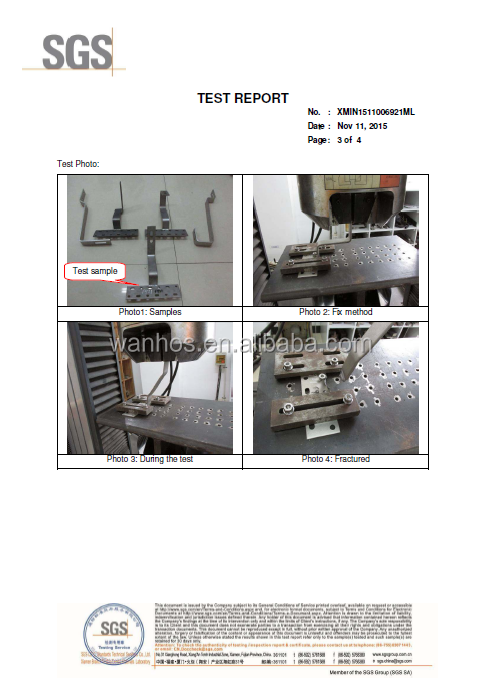 Stainless Steel Standing Seam Roof Hook