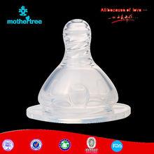 Standard neck feeding bottle nipple liquid silicon standard baby nipple wholesale