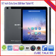 9.7 inch Retina Screen 3G MTK8392 2GB Ram Octa Core Tablet PC Cube Talk9X