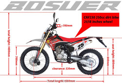 250cc dirt bike CRF230