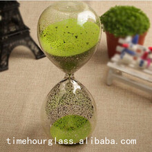 8 inches silver plated hourglass