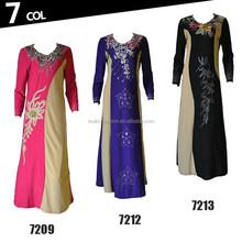 arabic fashion islamic clothing wholesale long sleeve muslim dress