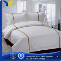 plain dyed china wholesale plaid hotel 4pcs bed linen producer
