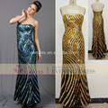 Novos vestidos abendkleid off- ombro querido completa- comprimento lantejoulas vestido de noite 2014