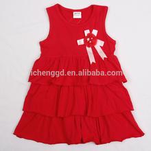( dzq001) nova chica rojo de cumpleaños de niños vestidos de fiesta vestido de navidad