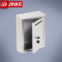 Metal Complaint Box with Lock, Wall Mount or Countertop, Top Loading Insert Slot