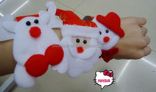2015 christmas hot items gifts,plush fabric slap wristband