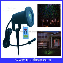 Waterproof outdoor lighting remote laser red and green full stars twinkling with CE, RoHS, FCC, SGS, UL certificates