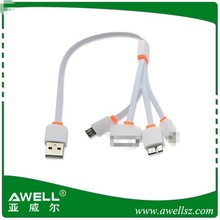 Cute 4 in 1 Mini Multifunction USB Data Cable Charger Cable for iPhone