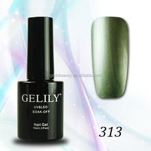 New shiny metallic gel nail polish wholesale peel off led uv gel