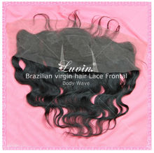 Wholesale natural black lace front closure brazilian body wave