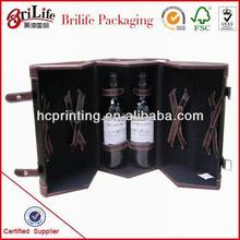 custom design leather wine bottle case