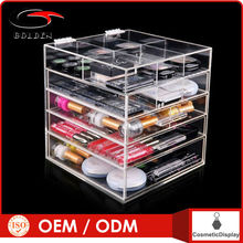 Hot selling acrylic tabletop cosmetic rack makeup case for lipsticks