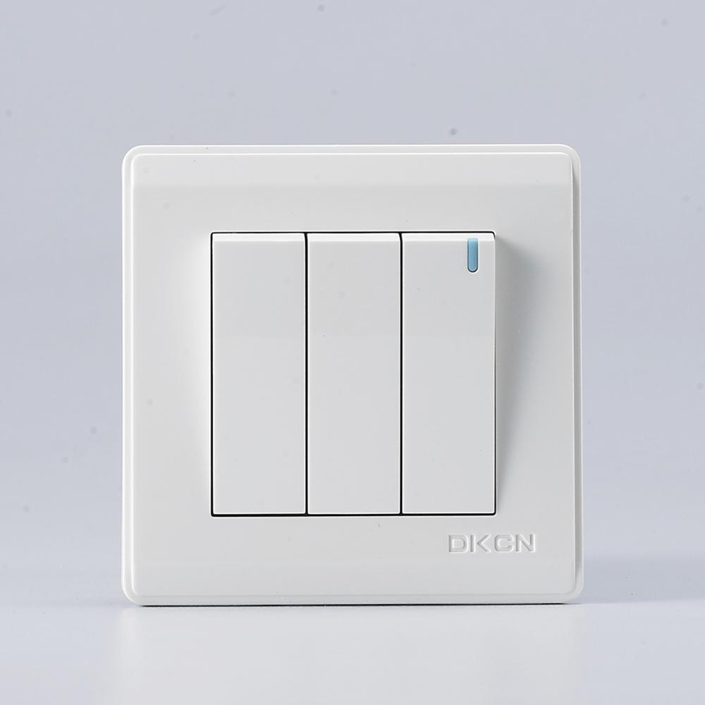 Good Quality Wall Electrical Switch 3 Gang 2 Way Light Switch - Buy ...
