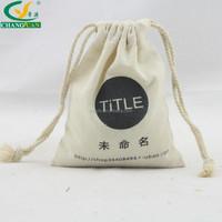 recyclable organic mini cotton drawstring bag
