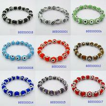 Lucky 10 mm evil eye CZ elastic bracelet