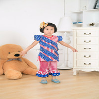Girls Gender and Children Age Group US 4th July Clothes Set 2015 Patriotic Outfits For July 4th