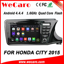 WECARO High End 1080P Pure Android 4.4.4 Car Audio For Honda City New