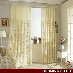 Popular promotional finished embroidery curtains