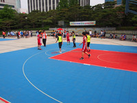 safety basketball court surfacing