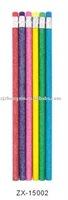 Glitter color pencils,glitter H lead pencil set of 6,promotional color