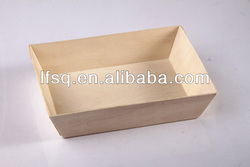 SQ002 Wooden Disposable Bento Box, Food Container, Material Poplar size 180*120*38mm