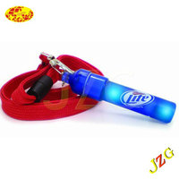 Custom wholesale plastic whistle led toy for kids glow in the dark party products led whistle