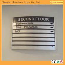 aluminium building directory wayfinding signs in building