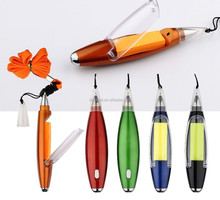 Note Contained Lanyard Ball Pen with led light
