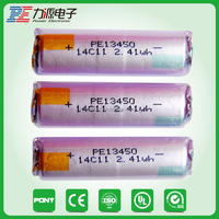 2015 lithium ion lifepo4 batterywith 650mah battery