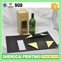 Free shipping! Folding wine box with magnet