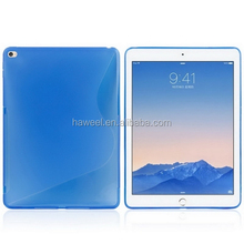 Hot wholesale TPU Protective Case for iPad Air 2 (Blue)