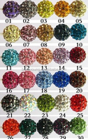 Wholesale high quality various color pearl beads shamballa bracelet