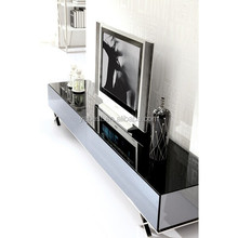 stainless steel and glass tv stand B178