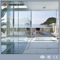 4mm clear temepred glass fence panels price for greenhouse