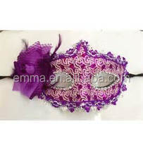 Ladies sex party mask purple deluxe masquerade party mask MK2049
