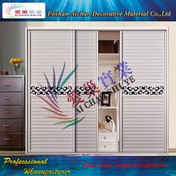 hdf door magnetic door screen sliding wardrobe door with Mirrored design from Guangdong