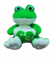 jolly green frog toy , manufacturers china produce the soft frog toy , frog cuddly toys